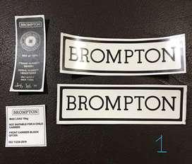 Sticker Sepeda Lipat Brompton