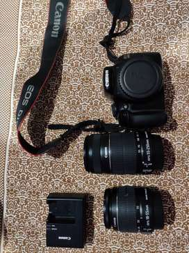 Canon 1100 with 18-55mm and 55-250mm lens full kit
