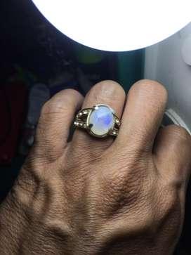 Batu cincin biduri bulan siap pakai