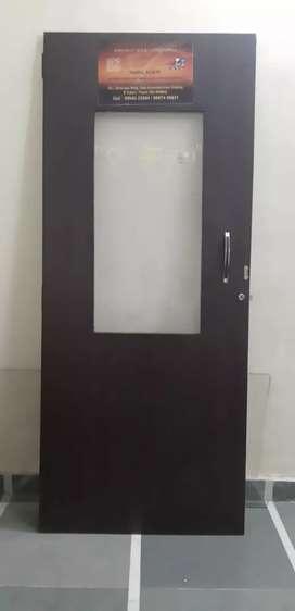 Wooden glass door for office