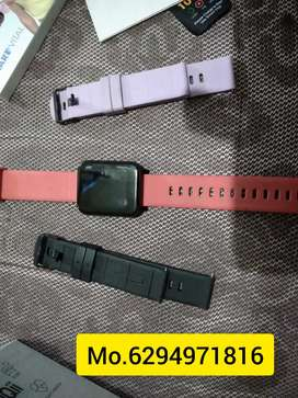 Goqii smart vital(smart watch) with 3 colored streps ,just 2 weeks old