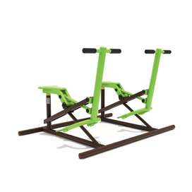 Super Murah Outdoor Fitness Double Horse Rider Machine