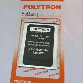 Batre Baterai Polytron Rocket T3 R2507 PL-7T5D Original Battery Hp