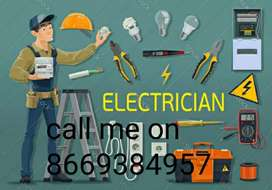 Electrician available 24*7 For any Electrical fault in home
