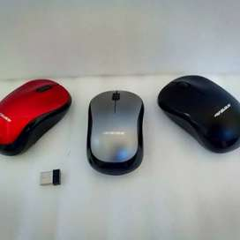 Mouse wireless free baterai