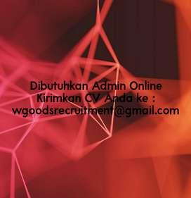 Dibutuhkan Admin Online Shop