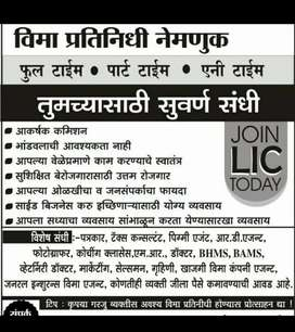 Big part time Carrier Opportunity to join LIC