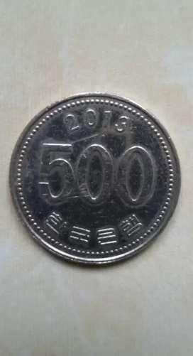 Uang Logam Edisi 500 Won Korea Selatan Tahuni 2013