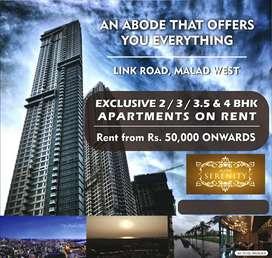 Brand New Tower mesmerizing views luxurious amenities 3Bhk Rent