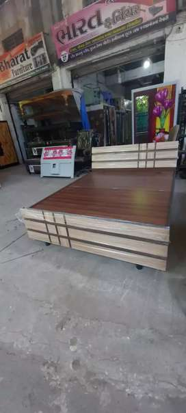 Designer wooden box bed