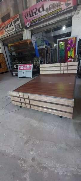 Designer wooden box bed