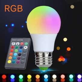 Multi-color LED bulb with remote control price in pakistan