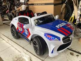 Mobil Aki Anak Cas Remot SHP CLA200 POLICE PJR 12 V 2 Dinamo Suspensi