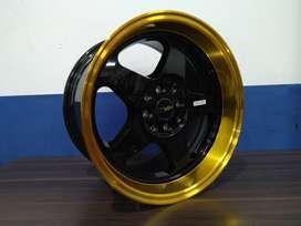 SEDIA VELG RACING HSR LOUD RING16X8/9 H8X100/114,3 BML/GOLD