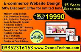 E-commerce Website Design & Development With domain & Hosting