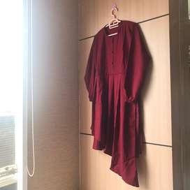 SetCel/Setelan Celana (Merah Maroon)