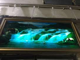 Wall hanging screen with voice 3D
