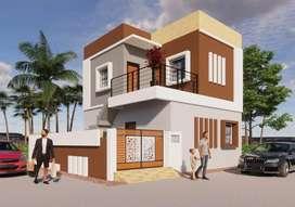 Corner 3 BHK Duplex Bungalow Only 28.5 Lakh