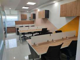 fully furnished office space available at commercial building