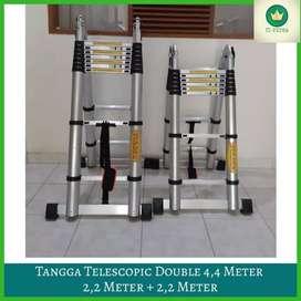 Tangga Teleskopik Double 4,4 m, tangga lipat Telkom 4,4 m