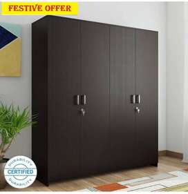 New 4 door wardrobe in black wenge finish