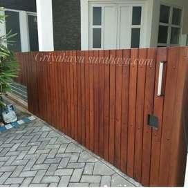 Pagar kayu ulin/gerbang kayu