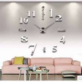 jam dinding besar DIY Giant wall clock Quartz creative design 80-130cm