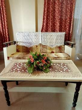 Sunmica 2+1+1 living room sofa set with a centre coffee table