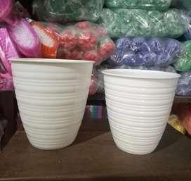 Baru pot bunga putih 2 ukuran per lusin