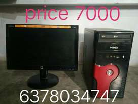 Urgent sale New condition Computer- Aoc lcd monitor and intex cpu
