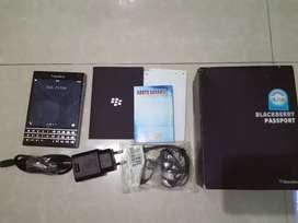 Blackberry passport fullset (bisa barter/tuker tambah hp)