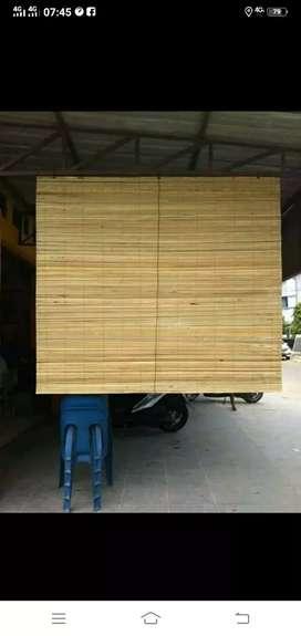 Jual tirai isi bambu dan isi bambu dan rotan coklat murah