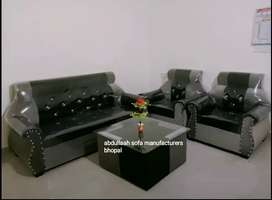 Brand new  sofa set 5 seater  gre black direct from factory