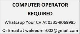 Computer Operator Required