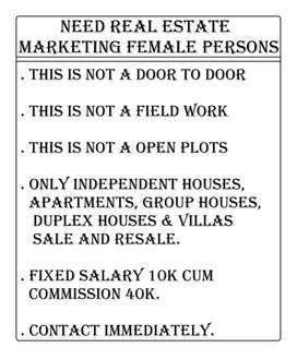 Need Real Estate Marketing Female Persons