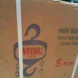 """CHAIN BLOCK """"VITAL"""" 5 Ton X 10 meter (katrol manual) made in japan"""