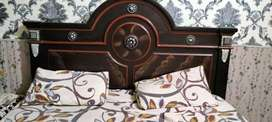 Bed with Dressing and Double spring metrus