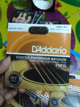 Senar Akustik Daddario uk. 010 EXP15 Original