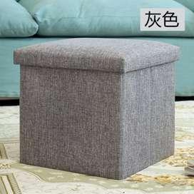 Sofa Kotak Penyimpanan Barang 30x30x30 - Gray