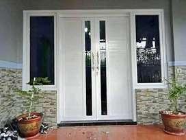 Kusen pintu jendela Partisi aluminium pintu kaca tempered pintu lipat