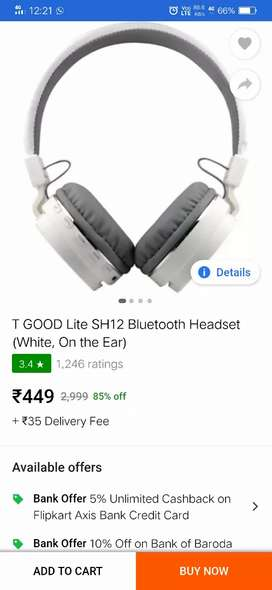 Headphone sell on new condition