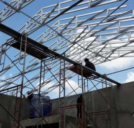 Kami bengkel las nerimah pemasangan konstruksi baja ringan @4552