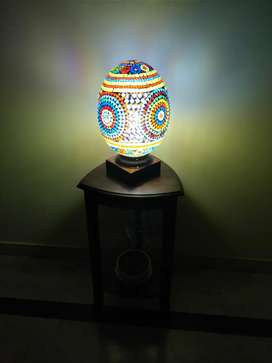 Exquisite Handmade glass mosaic lamp (convertible - hanging/table )