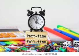 Office work part time and full time