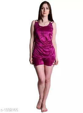 Women Satin Night Suit