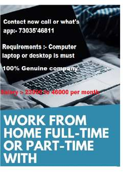 this job suits for part time job seekers, freshers, students, etc