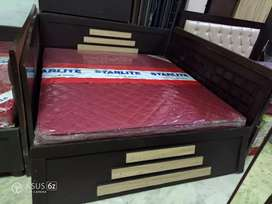 6*6 lowest price storage double bed at Satya Furniture