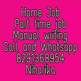 Manvol hand writing Job in capital laters