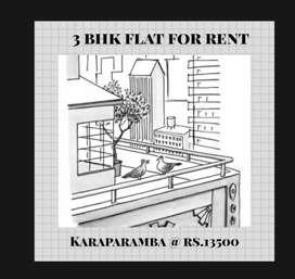 3 bhk flat in karaparamba for rent