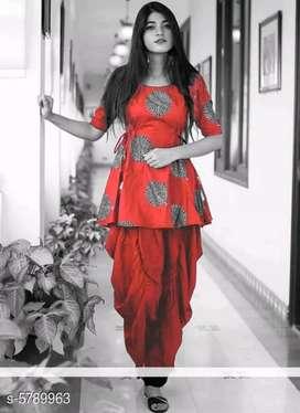 Women's trendy dress kurti with doti pant
